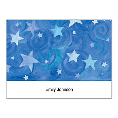 Shining Stars Folded Note Cards