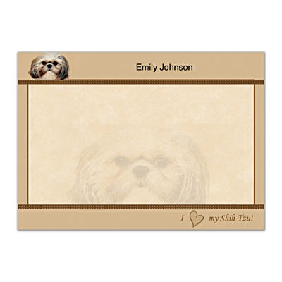 Faithful Friends - Shih Tzu Flat Note Cards