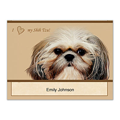 Faithful Friends - Shih Tzu Folded Note Cards