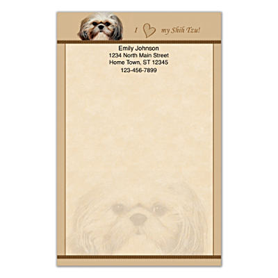 Faithful Friends - Shih Tzu Large Note Pads