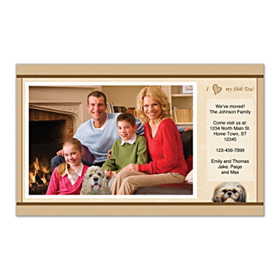 Faithful Friends - Shih Tzu Photo Insert Cards