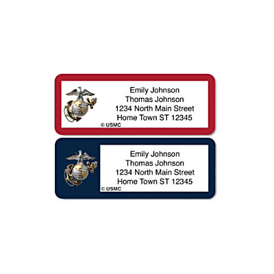 U.S. Marines Address Labels