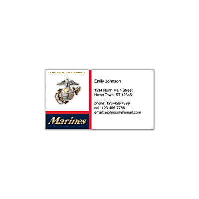 U.S. Marines Social Calling Cards