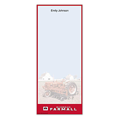 Farmall List Note Pads