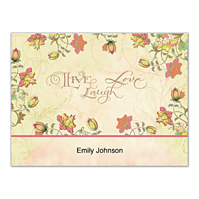 Live, Laugh, Love, Learn Folded Note Cards