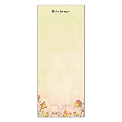 Live, Laugh, Love, Learn List Note Pads