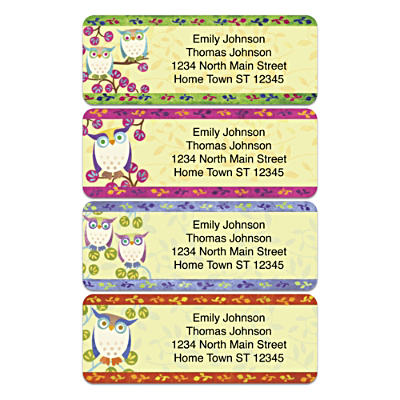 Challis & Roos Awesome Owls Address Labels