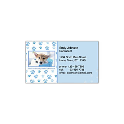 Rescued Is My Breed Of Choice Social Calling Cards