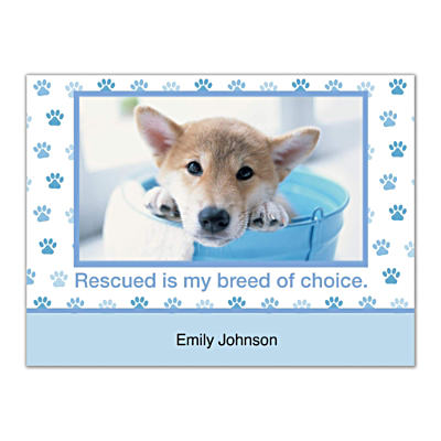 Rescued Is My Breed Of Choice Folded Note Cards