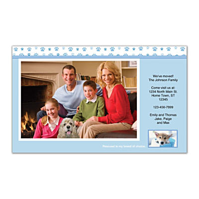 Rescued Is My Breed Of Choice Photo Insert Cards