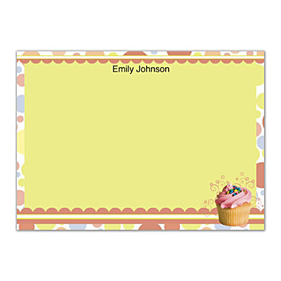Cupcake Craze Flat Note Cards