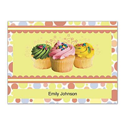 Cupcake Craze Folded Note Cards