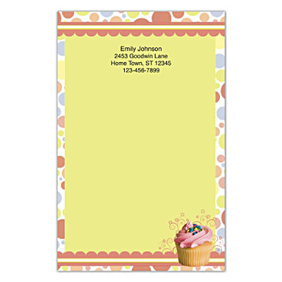 Cupcake Craze Large Note Pads