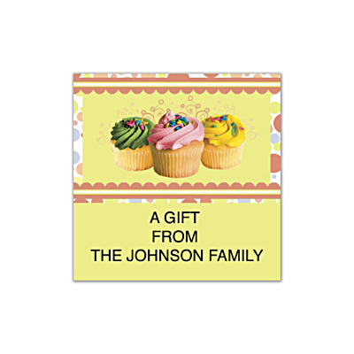Cupcake Craze Square Labels