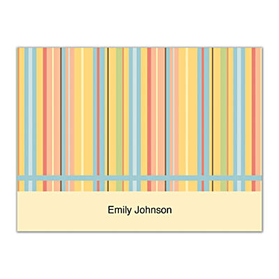 Stripes Folded Note Cards