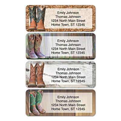 Cowboy Boots Address Labels