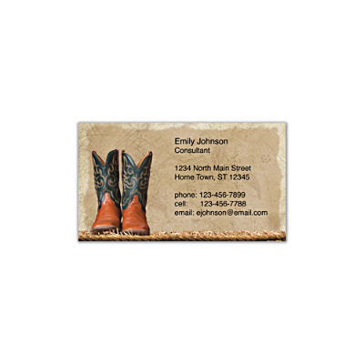 Cowboy Boots Social Calling Cards