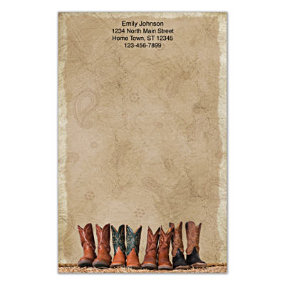 Cowboy Boots Large Note Pads