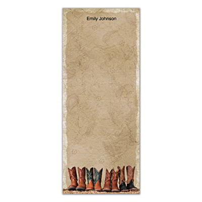 Cowboy Boots List Note Pads