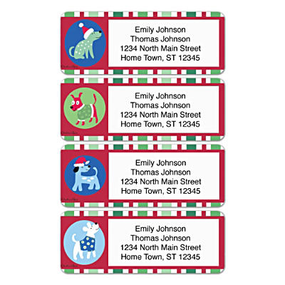 Challis & Roos Happy Howl-idays Address Labels