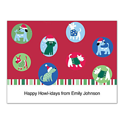 Challis & Roos Happy Howl-idays Folded Note Cards