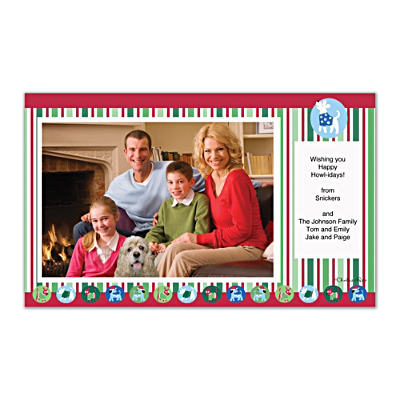 Challis & Roos Happy Howl-idays Photo Insert Cards