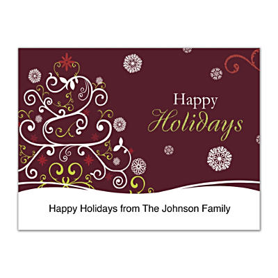 Holiday Celebrations Folded Note Cards