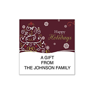 Holiday Celebrations Square Labels