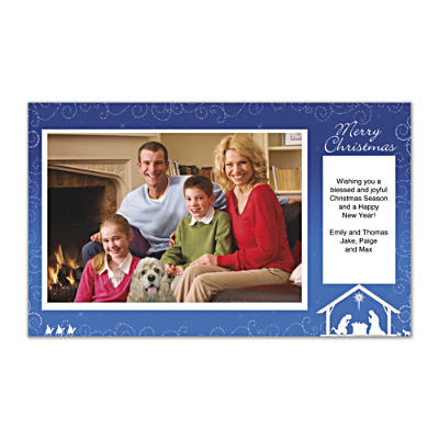 Silent Night Photo Insert Cards