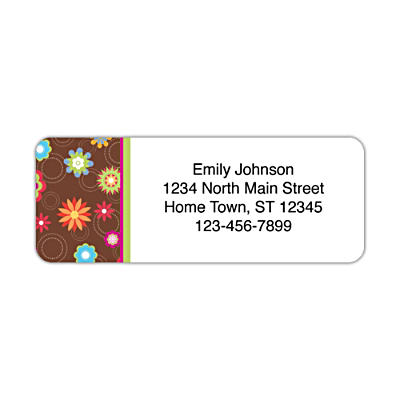 Floral Fun Address Labels