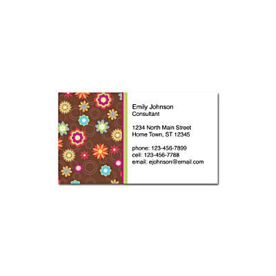 Floral Fun Social Calling Cards