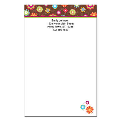 Floral Fun Large Note Pads