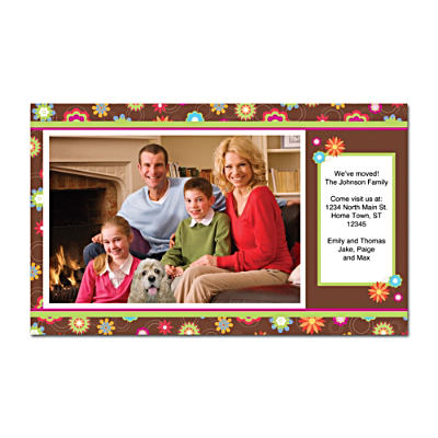 Floral Fun Photo Insert Cards