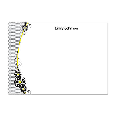 Fashion Flowers Flat Note Cards