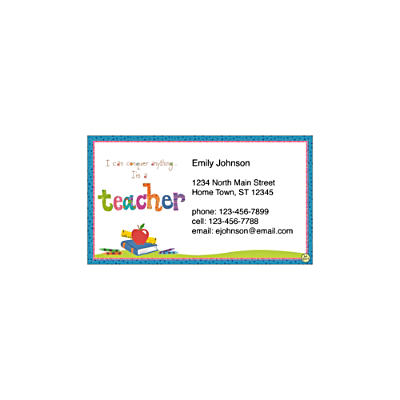 Teachers Rule! Social Calling Cards