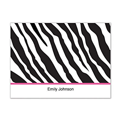 Fashion Safari Folded Note Cards