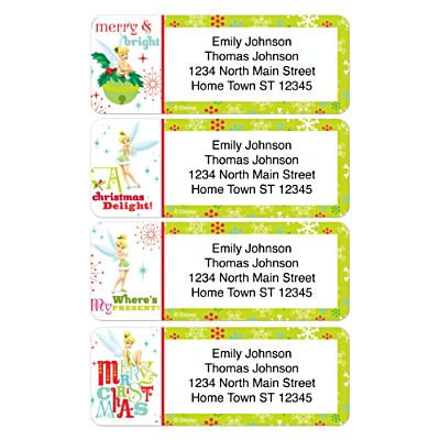 Tinker Bell Holiday Address Labels