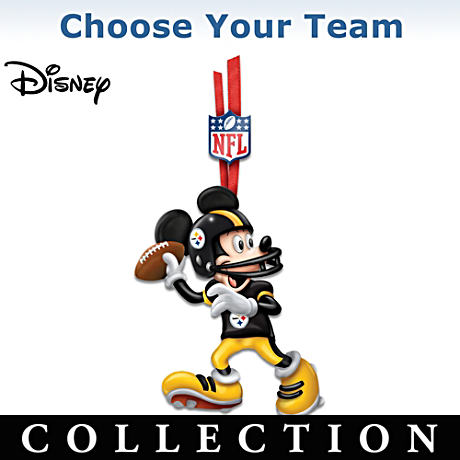"""Choose Your Team"" NFL Disney Character Ornament Collection"