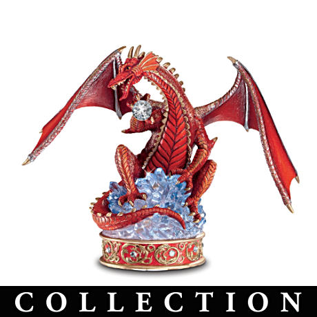 """Treasure Dragons"" Fantasy Art Figurine Collection"
