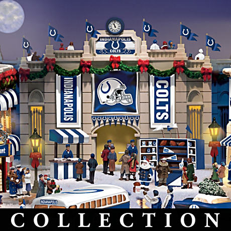 Indianapolis Colts Illuminated Christmas Village Collection