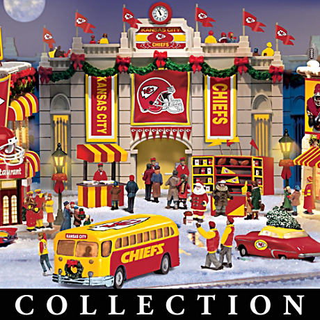 Kansas City Chiefs Illuminated Christmas Village Collection