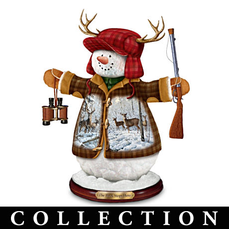 "Persis Clayton Weir ""Deer Friends"" Snowman Figurines"