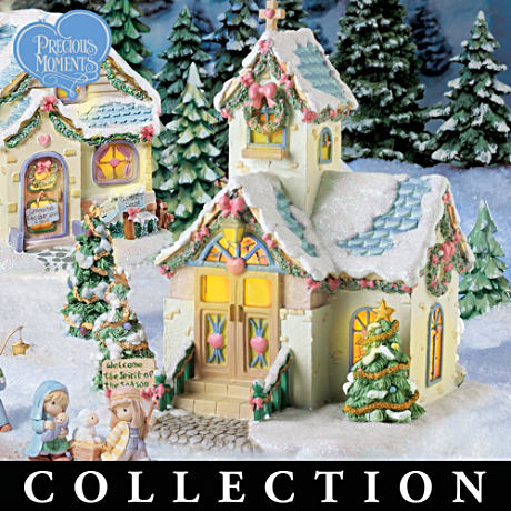 Precious Moments Christmas Village Collection