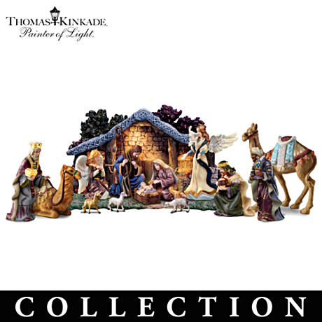 "Thomas Kinkade ""Star Of Hope"" Nativity Collection"