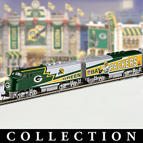 Green Bay Packers Train Collection With Super Bowl Car