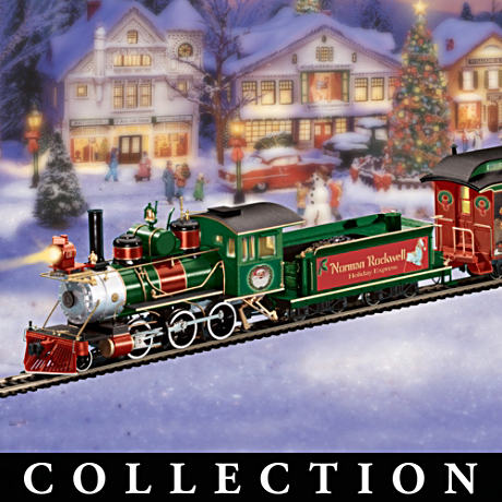 Norman Rockwell Holiday Art Electric Train Collection