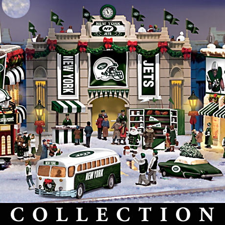 New York Jets Christmas Village Collection