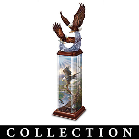 Ted Blaylock Eagle Art Lighted Tabletop Sculpture