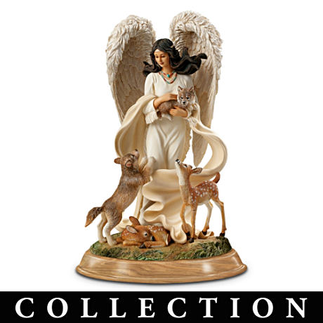 Native American-Inspired Guardian Angel Figurine Collection