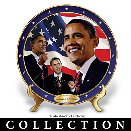 Barack Obama Porcelain Commemorative Collector Plates